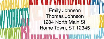 New York City  Address Label