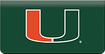 Carry Your Canes® Checks Proudly in this University of Miami® Checkbook Cover