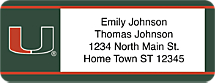 University of Miami® Address Labels are a Great Way to Share that Canes® Spirit