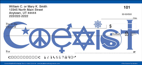 Make a Difference with Checks Designed to Inspire Peace and Love