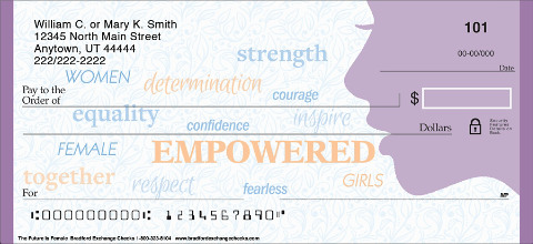 Behind Every Powerful Woman Should Be Empowering Check Designs