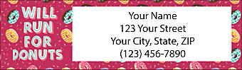 Donuts Return Address Label