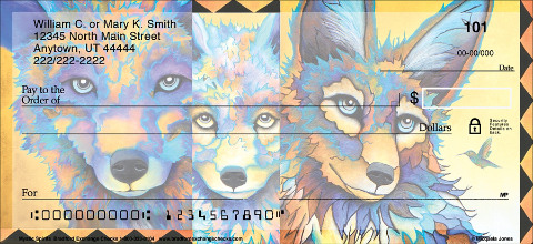 Sneak a Peek into the Life of the Majestic Wolf with these Colorful Check Designs