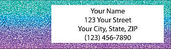 Glitter Sparkles Address Label