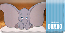 A Classic Scene from Dumbo is Captured on this Irresistible Checkbook Cover