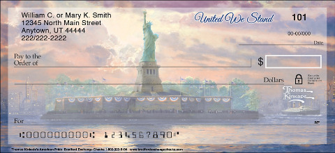 Thomas Kinkade's Signature Artwork Enlightens the Exteriors of Our Nation's Monuments on These Breathtaking Checks