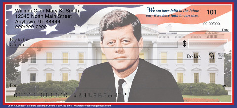 JFK Checks are a Patriotic Tribute to our Unforgettable 35th President