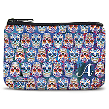 Personalized Coin Purse with an Authentic Mexican Dia de los Muertos Design