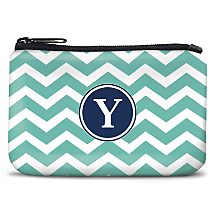 Personalized Coin Purse with a Trendy Chevron Pattern