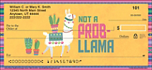 Lovable Llamas Have Puns-of-Attitude on these Adorable Personal Checks