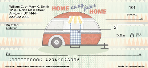 Hit the Road with Camper Themed Personal Checks