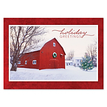 A Barn At Winter Creates a Beautiful Season's Greeting For All To Enjoy