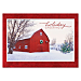 Red Barn Personalized Holiday Cards