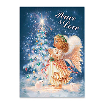 A Little Angel Sends Lots of Christmas Blessings and Love