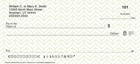 Bank in Classic Style with These Tessellation Personal Checks