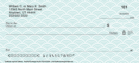 The Good Fortune of Japanese-inspired Designs on Beautiful Personal Checks