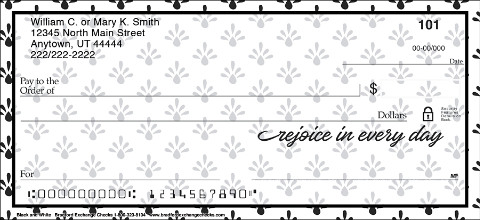 Its as Clear as Black & White, These Personal Checks Are Inspiring