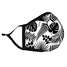Be Stylish and Safe with this Black &White Floral Fabric Face Mask