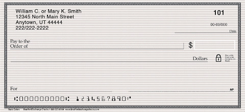 Simple and Basic, These Personal Checks Meet Your Needs