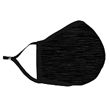 Solid Black Fabric Face Mask with HEPA Filter - Adult
