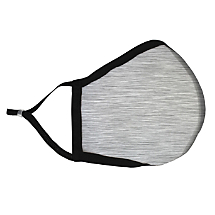 Light Gray Colored Fabric Face Mask with HEPA Filter - Adult