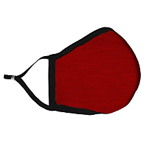 Solid Red Fabric Face Mask with HEPA Filter -Large Adult