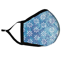Share Your Bohemian Style with Blue Batik Fabric Face Mask