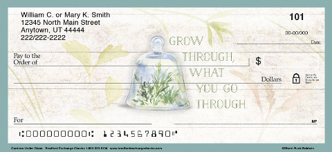 Inspire Others with Beautiful Terrarium Themed Personal Checks