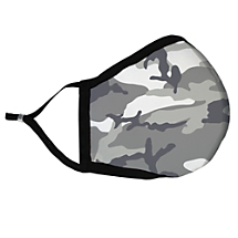 Add a Twist to Camouflage with this Gray Camouflage Fabric Face Mask