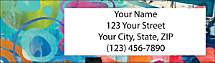 Featuring African Abstracts Address Labels by Celebrity Designer Nikki Chu