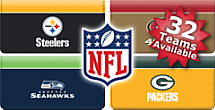 Choose From 32 NFL Teams Checkbook Covers