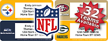 Choose From 32 NFL Teams Address Labels