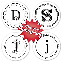 Choose Your Monogram Peel & Stick Stamp Set