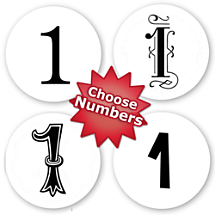 Choose Your Number Peel & Stick Stamp Set