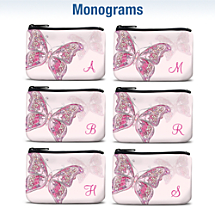 On the Wings of Hope Monogram Coin Purses