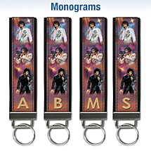 Remembering Elvis Monogram Wristlet Keychain