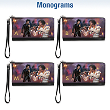 Remembering Elvis Monogram Large Wristlet Purse
