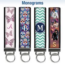 Monogram Wristlet Keychains