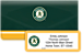 Oakland Athletics - Major League Baseball Bonus Buy