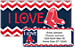 I Love Red Sox Chevron Bonus Buy